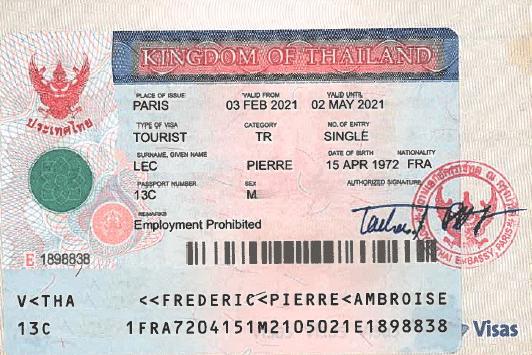 visa tourisme thailande
